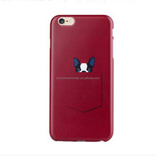 For iphone6 tpu case with red color and custom pattern design with free sample
