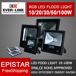 2015-2-year Warranty Outdoor rgb led flood light CE Rohs Approved IP65 High Brightness 20W led flood light