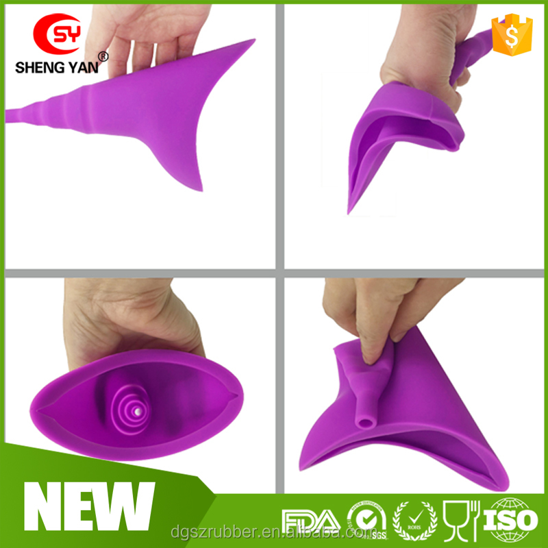 Portable Female Travel Camping Outdoor Silicone Urinal,Silicone Urination Device