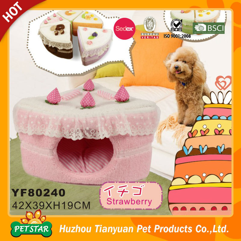 Discount!!! Strawberry Design Pink Lovely Dog Bed