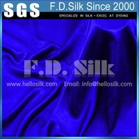 "16MM Silk Jacquard Fabric Width 45"" Royal Blue No.11 Color"