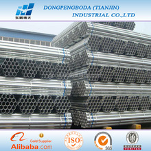 ASTM A500 GI pre galvanized round steel pipe