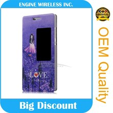 mobile phone LCD leather flip case for lg optimus g pro e980 ,Direct good quality