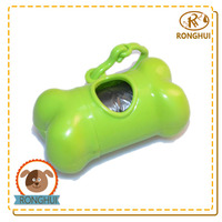 bone shaped plastic customized dog waste bag with dispenser