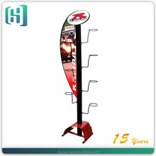 metal 7 holder motorcycle helmet display rack with advertising brand HSX-S0100
