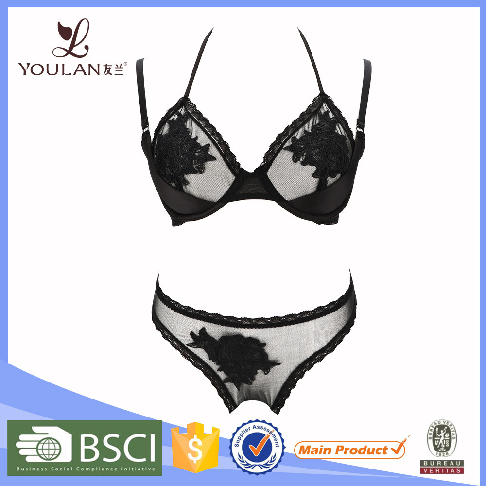 New Arrival Romantic sexy bra panty your design