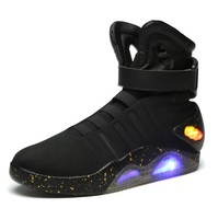 "New Fashion Led shoes,""Back to Future""movie led hightop shoes,led flashing sports shoes factory wholesale"