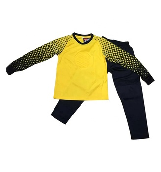 High Quality 100% Polyester Yellow Goalkeeper Jersey