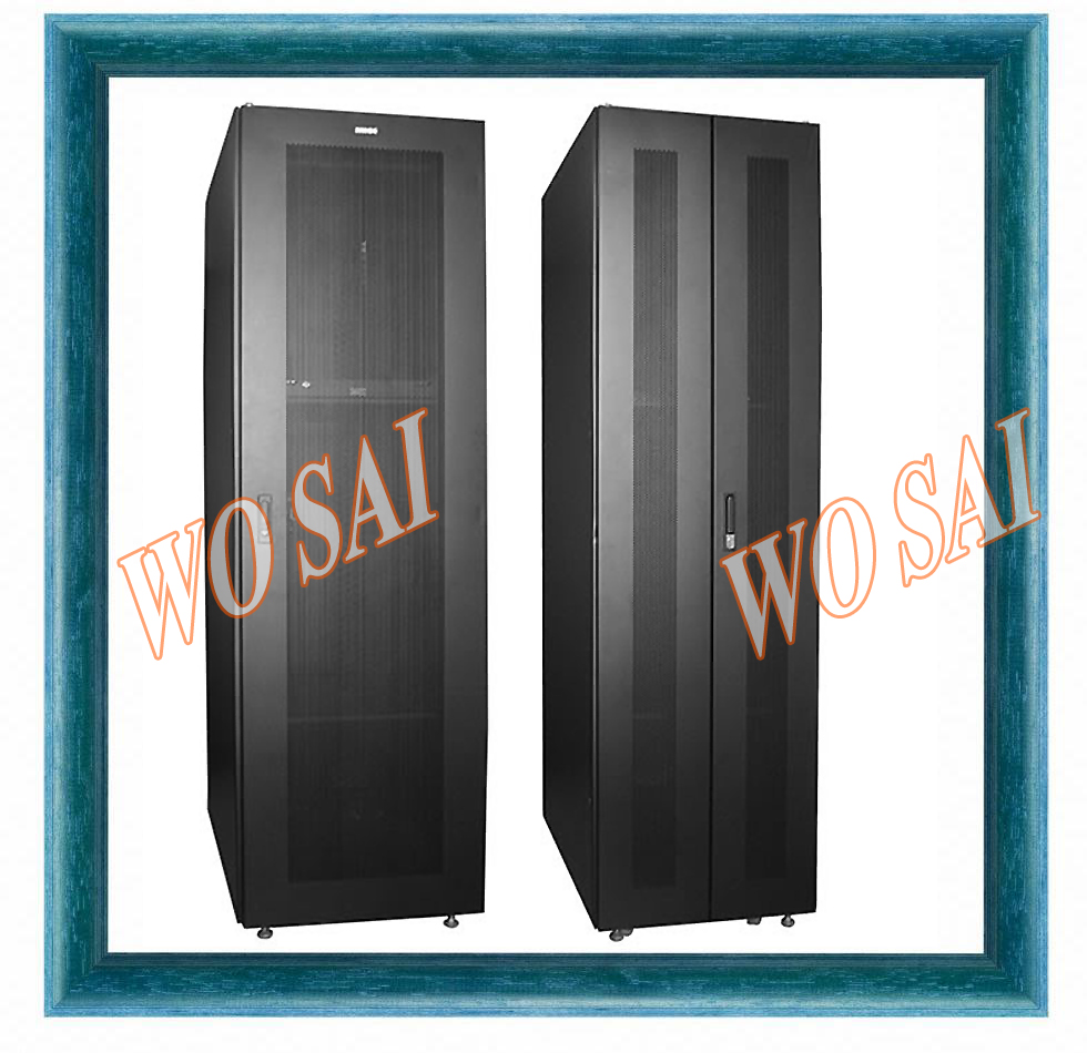 Wosai factory Heavy duty frame,1200kgs loading, floor standing network server rack