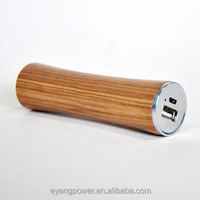 2000 mAh wooden power bank in stick shape, portable and elegant mobile charger