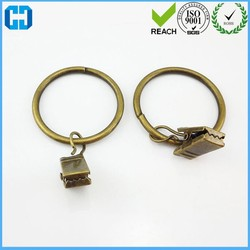 Factory Design Drapery Curtain Clip Rings With Hooks For Bedroom