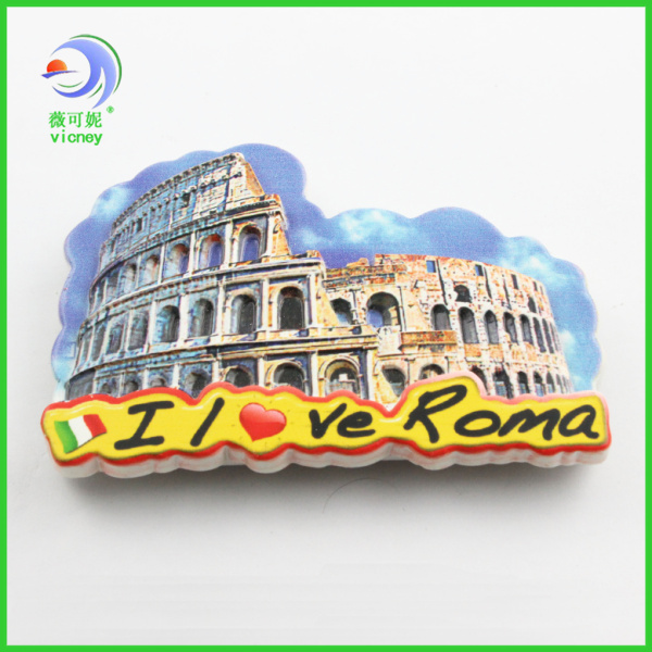 roma design resin magnet fridge magnet for tourist souvenir