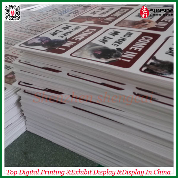 Custom design pvc foam board printing service