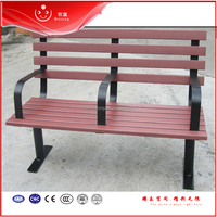 Durable metal frame park /family/ patio bench composite with back for leisure