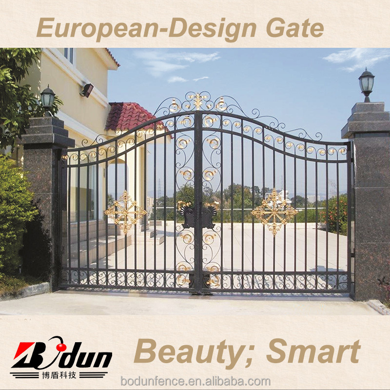 Swing gate opener & house main iron gate door prices designs