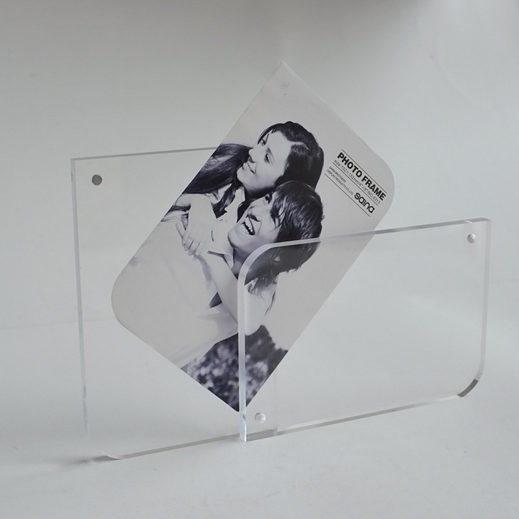 clear acrylic picture photo frame photo frame 4x6,5x7 wholesale custom acrylic photo frame