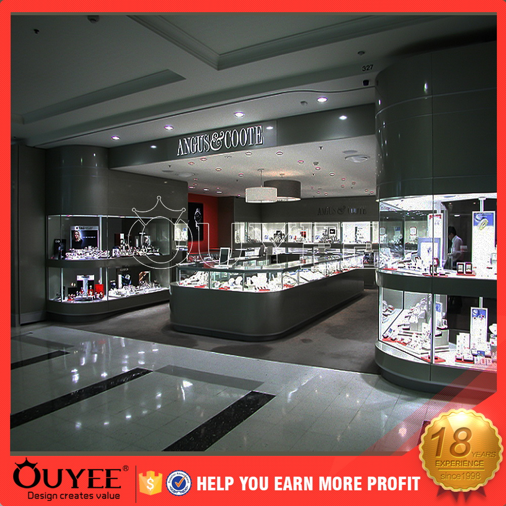 innovative jewellery shop counter design with clips counter display unit