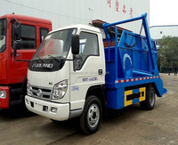 discount price factory sale foton 8 cbm 4x2 176 hp swing arm garbage truck