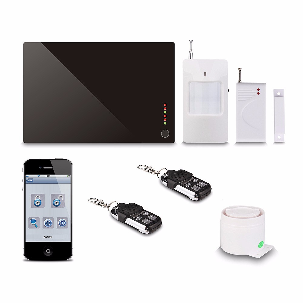 Office/home/supper market use intelligent wireless GSM home auto dial alarm system R0001
