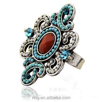 Factory Direct Sell New Vintage Exquisite Blue Butterfly Fashion Ring