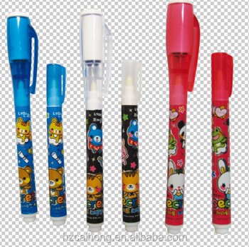 magic invisible ink pen & magic pen for promotion, CH-0816 with 395nm UV light on top