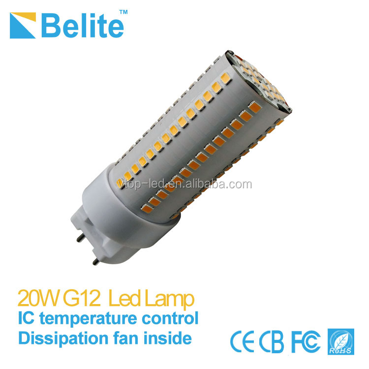 High bright 2300lm pf>0.95 AC85-265V 75w metal halide replace g12 20w led corn light