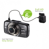 Hd 1080P Dual Lens Car DVR Video Camera with 150 degree angle view For Vehicle Video Recorder