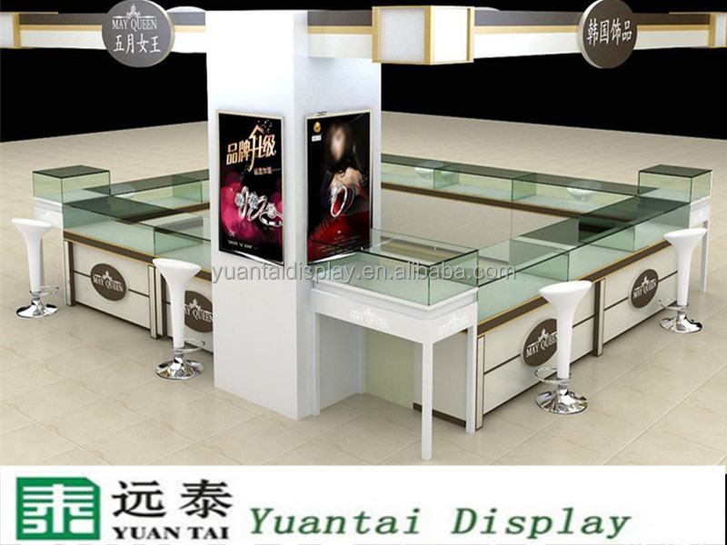 modern shopping mall kiosk display jewelry fashion rings