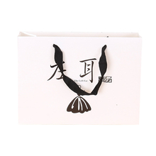 Hot Sele Fany Design Stand Up Paper Flat Bottom Shipping Bag With Handle