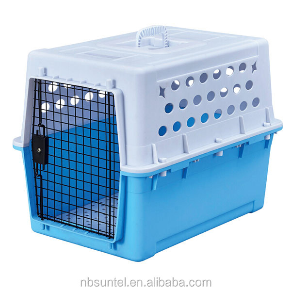 Waterproof Dog Kennel Safe Latching pet Carrier Ergonomic Handle Dog Pet Flight Cage
