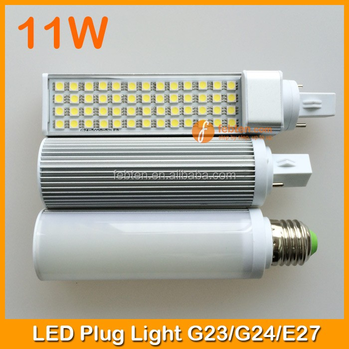 Factory wholesale led pl light G24 high quality 11w smd5050 2pins lamp base