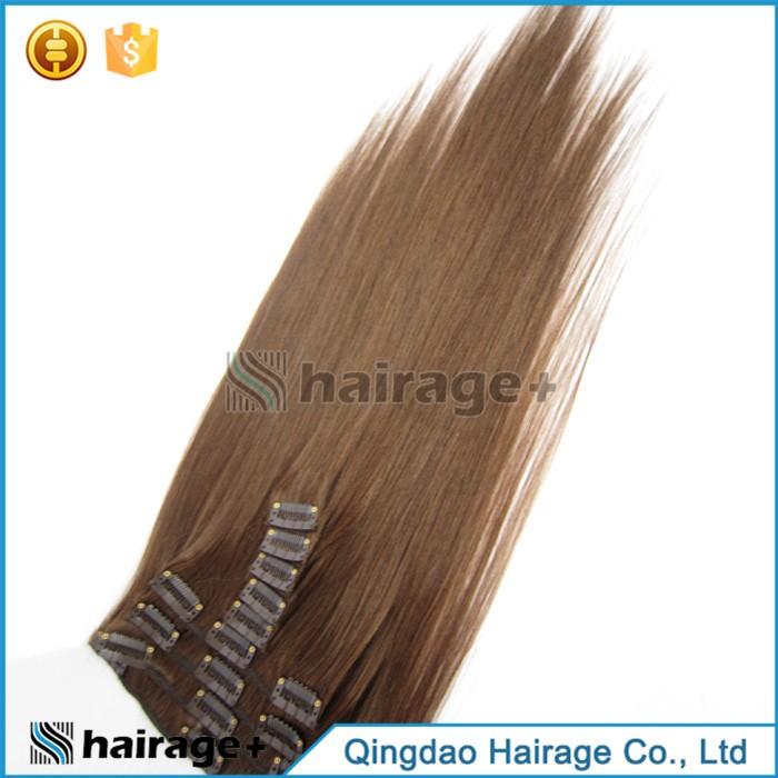 Free Sample Grade 7a 100 Unprocessed Clip In Hair Extension Dark Brown
