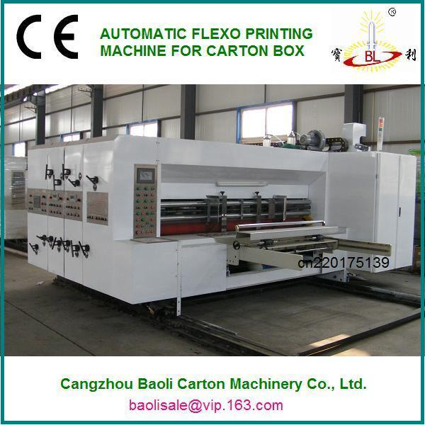 corrugated carton box flexo multi-color printing grooving machine