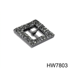 Black rhinestone metal shoe buckle parts