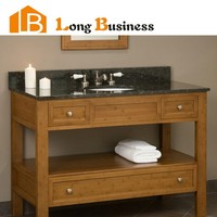 "LB-DD2025 made in china solid bamboo 36"" bathroom vanity"