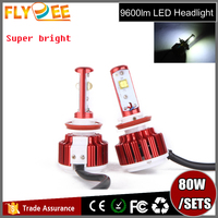 2016 Flydee Newest Upgrade 40W 4800 lumen high quality led car headlight kit h11
