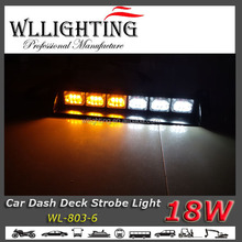 Mix two color 12 volt 18 led dash warning lights Dash / Deck windshield Strobe Lights
