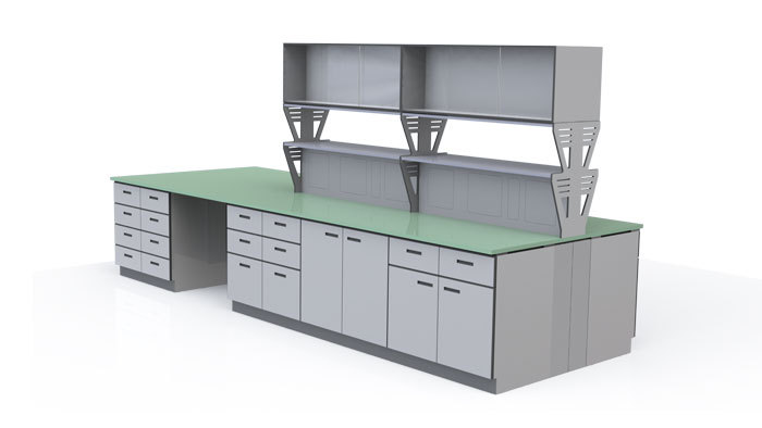 Testing laboratory workbench/High temperature resistant laminated sheet workbench