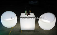 Modern Plastic RGB Commercial Bar Chair and Table Garden Led Cube 40cm for furniture sale