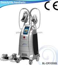 Vertical home use Cryolipolysis cellulite elimination device with 4 handles for slimming body