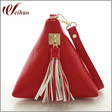 Vogue Star Fashion Mini Tassel Clutch Leather Bag Designer Purse Famous Brand Women Fringe Handbag Evening Bag Bolsa