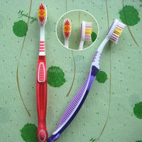 Soft handle plastic transparent toothbrush adult