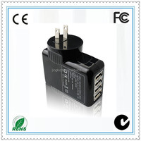 Adaptor 4 Usb Charger Wall Adapter