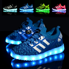 LED Yeezy Light Shoes Children Glowing Kids sneaker Led shoes 2017