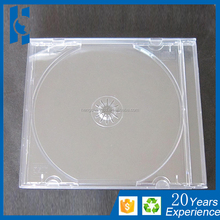 High Quality 10.4mm Standard Single Clear PS Jewel CD Case