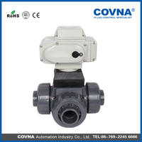 COVNA electric water diverter valve ball valve with CE certificate