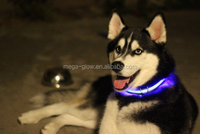 cheap magic customized pet dog chain link dog kennels/harness nylon led flashing collar