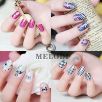 MELODI adhesive pattern stick nails, printed nail stickers for girls