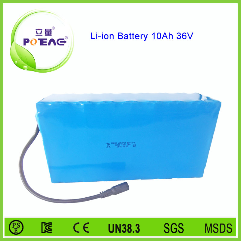 CE UL approved 26650 10ah lifepo4 electric bike battery 36v
