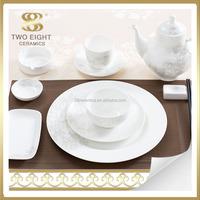 Eco Friendly ceramic dinnerware set,luxury porcelain vietnam tableware